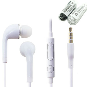 3.5mm In-ear Earphone Stereo J5 Headset Headphone With Mic Remote Volume Control Microphone Earbud Good Quality For Samsung S4 S5 S6
