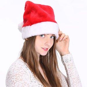 High-End Men And Women Plush Hats Fashion Santa Hats Christmas Party Decoration Dress Up Hats Free Shipping
