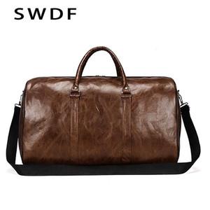 SWDF 2020 impermeabile resistente all'usura corsa unisex borsa PU robusta mano sacchetti di capacità più grande sacchetti per bagagli sportivi