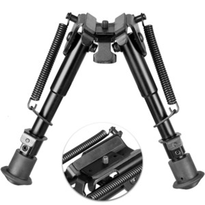 """6""""-9"""" Tactical Rifle Bipod Fore Grip Mount with Fully Adjustable Spring-Ejects Legs for Airsoft Painball"""
