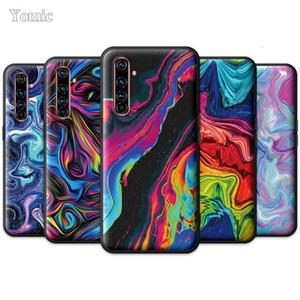 Cas de silicone Noir Realme 6 C3 XT 5 X50 5G x2 7 Global Q2 Pro 6i 6i 6S Q2i, cas personnalisé, Novel4Fre