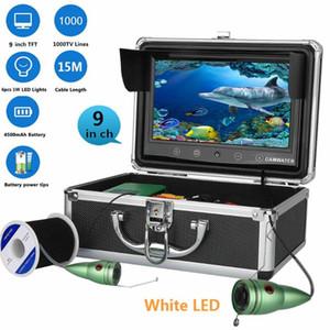 """9 """"Pantalla táctil de 15M Blanco Luces LED Ajuste de la cámara de pesca de la cámara del barco del río del río Underwater Vision"""