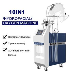 2021 Macchina facciale dell'ossigeno dell'ossigeno idrofacciale Adatto per il trattamento dell'acne Ringiovanimento del viso Ringiovanimento del viso Cura della pelle con 10 maniglie del viso ossigeno