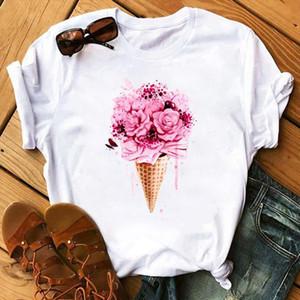 New Vogue Flower T Shirt Women Summer Casual Print Tshirts New Korean Style Tee Harajuku Graphic Tops 2021 Kawaii Female T shirt