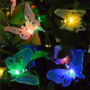 Butterfly Globe 6.5ft Solar Powered 12 Fairy Led for Garden Christmas Decoration Holiday Outdoor Lights Iaeu#