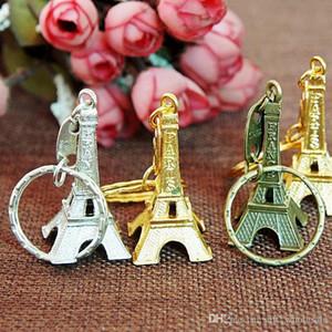 حار بيع برج ايفل سلسلة المفاتيح سبائك معدنية / مفتاح سلسلة / برج ايفل مفتاح سلسلة المفاتيح حلقة معدنية فرنسا برج ايفل سلسلة المفاتيح من حقيبة 3 ألوان