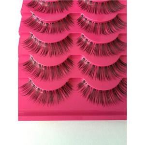 High Quality 5 Pairs set Handmade Natural Fashion Long False Eyelashes Beauty Makeup Tool Fake Eye lashes