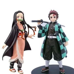 Demon Slayer PVC Aksiyon Figürleri Tanjirou Nezuko Anime Kimetsu Yok Yaiba Heykelcik Model Oyuncaklar 201202