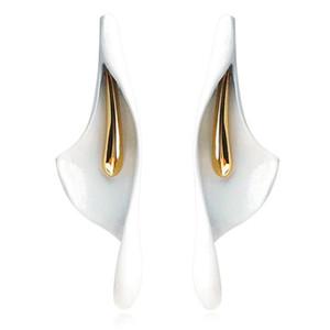 2020Imitation Ceramic flower Stud Earrings For Women girls Fashion Wedding Bride Jewelry Gift Brincos