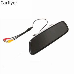 Carflyer Universal 4.3 inch TFT LCD Screen Car Reverse Review Monitor+ Night Vision Backup Rearview camera optional