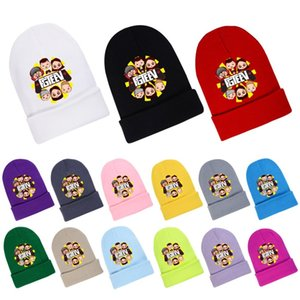 Fgteev الخريف محبوك الصوفية فتاة الرجال النساء الأم والبيانات الأغطية الشتوية قبعة للأطفال 1028