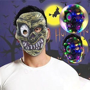 Halloween LED Glowing Props Four Color Mask Hot Funny Scary Toy Horror For Cosplay Costume Cosplay Party Masque Dress Maska