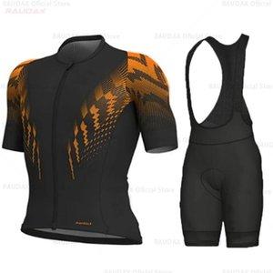 Raudax лето Велоспорт Джерси с коротким рукавом Велоспорт Одежда Наборы для велосипедов Одежда Kit Mtb дышащего