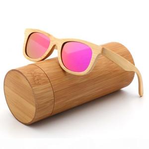 Fashion Kids Polarized Sunglasses For Boy And Girl Handmade Wood Bamboo Sun Glasses Uv400 C19022501
