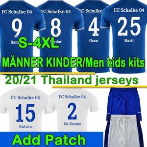 3XL 4XL FC Schalke 04 Футбол Джерси Кутуку uth Hoppe Huntelaar 2020 2021 Schalke Джетки Bentaleb Raman Skrzybski Мужские футболки Шорты