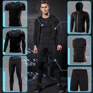 vêtements de basket-ball sport de course de compression de sport de gymnase hommes serrés sport formation jogging respiration sport