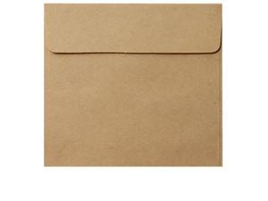 Praça Kraft branco convite Envelopes Wedding Mini Paper Envelope presente Envelope 10 * 10 centímetros Holiday Party