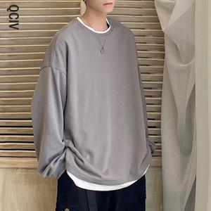 Мужские толстовки для толстовки Мужчины негабаритные Harajuku сплошной графический пуловер KPOP Fashions Повседневная одежда 5XL