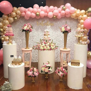 Plaza de metal Columna cilindro soporte de exhibición de la carretera pilar flores de plomo florero titular de bodas artesanías torta pantalla postre decoración del partido gran evento