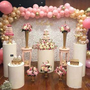 Metal Square cylinder Column display stand pillar road lead flowers vase cake crafts dessert display holder wedding grand event party decor