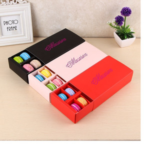 Macaron Holds 12 Cavity 20*11*5cm Paper Party Boxes For Bakery Cupcake Snack Candy Biscuit Muffin Box wa3247