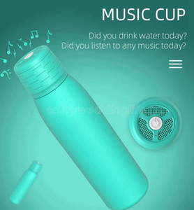 500ML Bluetooth Tumbler cola bottle Bluetooth Speaker Double Wall Insulated mug cup 4 COLORS music cup LJJK2507