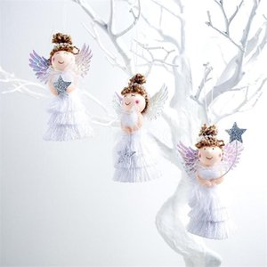 Lovely Angel Girl Doll Christmas Tree Pendants Hanging Ornaments Gifts Xmas New Year Party Decor Home Decoration DHL Fast Shipping