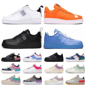 nike air force 1 one af1 zapatillas de deporte de la clavada 1 Mujeres para hombre de los zapatos corrientes Universidad Una utilidad blanca Force Blue Shadow Formadores