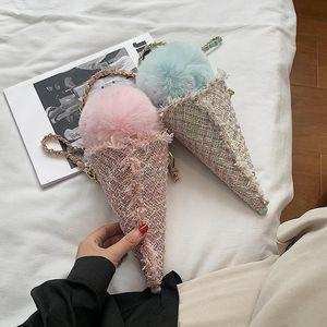 Fashion Ice Cream Design Crossbody Bag 2020 Fashion New High-Quality Wool Women's Designer Handbag Chain Shoulder Bag Girls New