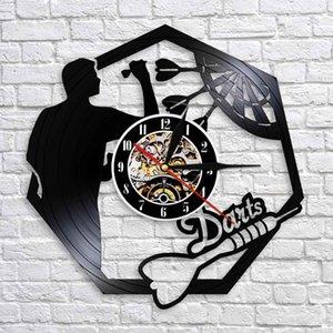 Darts Wall Decor Modern Design Wall Clock Dart Board Vinyl Record Wall Clock Personality Decoration For Night Club Pub