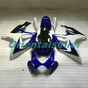 Body For SUZUKI GSX R600 GSX-R750 GSXR-600 GSXR600 06-07 GSX R750 GSXR 600 750 K6 GSXR750 2006 2007 Fairing kit New Factory white blue AD54