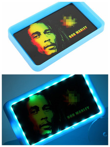 Rolling Tray Glow Cigarette Tray 800mah LED Light Glowtray Plastic ABS Tobacco Smoking Rechargeable Trays Storage Plate Cookies Package DHL