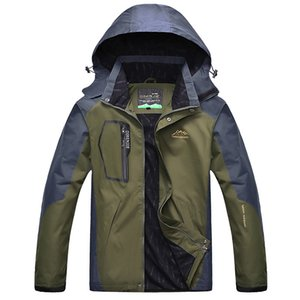 Spring and Autumn New Travel Jacket Men's Hooded Windproof Waterproof Men Outwear Thin Casual Jackets Plus Size 4xl ,5xl