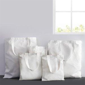 35*40cm Sublimation Blank Bags White Digital DIY Shopping Sack 6 Printed Canvas Square Handbag Fashion G2 5mj Sfgid