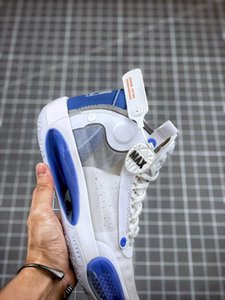 Jumpman 2020 New High Xxxiv Quality 34 Blue Void White 34s Mens Basketball Shoes Sneakers With Box with logo