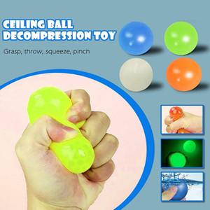 4.5 سنتيمتر luminescent لزجة ضغط الكرة الإجهاد الإغاثة اللعب لينة الضغط الكرة قبض رمي الكرة للأطفال