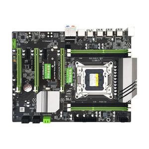 X79T DDR3 PC Desktops mãe LGA 2011 CPU Computer 4 Channel Gaming Suporte M.2 E5-2680V2 SATA 3.0 USB 3.0 para Intel B75