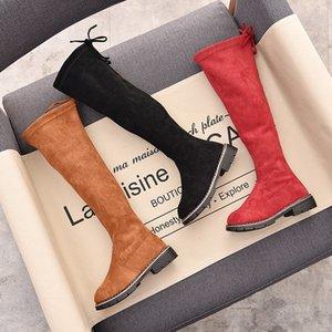 Yıl 5 6 7 8 9 10 12 Çocuk Çocuk Okul Artı Kadife Kırmızı Siyah Üzeri Diz Uzun Kar Boots snowboots Yeni Kış İçin Kızlar