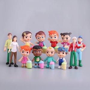 Anime Cocomelon Figura Toy PVC Model Dolls Dolls Cocomelon Giocattoli per bambini Regalo del bambino 12pcs / Set 201202