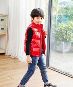Marka Kış Çocuk Yelek Erkek Kız Kalın Yelek Portmanto Yaka Katı Düğme Yastıklı Sıcak Kolsuz Ceket ceket