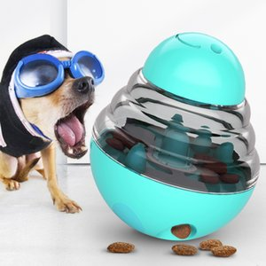 Hot selling pet food spiller tumbler cat and dog food spill ball bite resistant educational dog toy food grade rubber cc certified