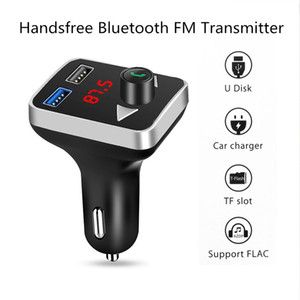 Car Bluetooth FM Transmitter Wireless Handsfree Audio Receiver Auto MP3 Player 2.1A Dual USB Fast Charger Car Accessories high quality