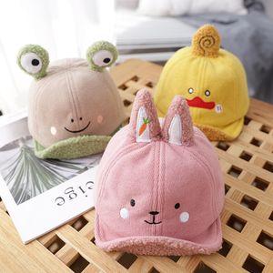 Осень и зима крышка младенца вскользь Плюшевые Bonnet Cute Small Animal Warm Hat мальчиков и девочек Мягкие Брим Hat бейсболке