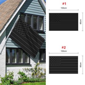Alle schwarzen amerikanischen Flagge 3x5 ft drucken Blackout taktische Taktfahnenfahnen 90 * 150 cm GWB4404