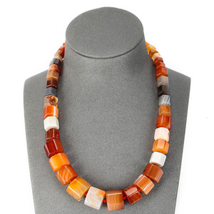 Natural Stone Crystal Agate Knotting Tower Chain Simple Single Layer Woven Necklace