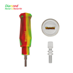 Waxmaid Daimond Nectar Collector For Wax With Quartz Nail And Bowl Display TPE Box Free Shipping