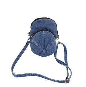 saco Mosaic coreano moda denim bonito chapéu bolsa de ombro slung