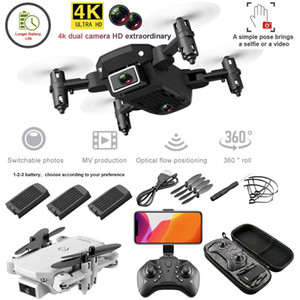 S66 FPV Mini Drone With Camera HD RC Foldable Drone 4K Profesional Selfie Wifi Double Camera Drones Quadcopter RC Dron Mini Toys