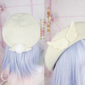 Bereler Mori Lolita Tatlı Güzellik Gözleme Şapka Bere Yün Sonbahar Ve Kış Ressam Bere1