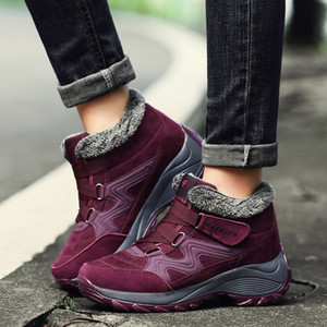New Winter Ankle Boots Women Snow Boots Warm Plush Platform Boots Sneakers For Women Shoes Winter 201023